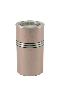 Rose Messing mini urn met waxinelichtje