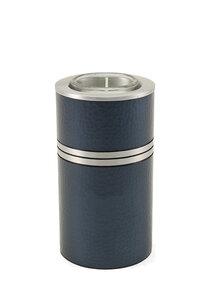Metallic Blue messing mini urn met waxinelichtje