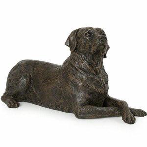 Prachtige verbronsde urn labrador