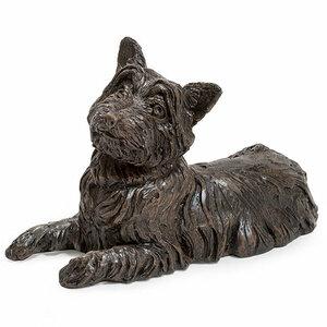 Prachtige verbronsde urn west highland white terrier