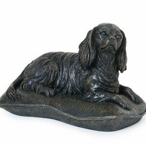 Prachtige verbronsde urn Cavalier King Charles Spaniel